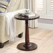 Haley Accent Table in Deep Cherry