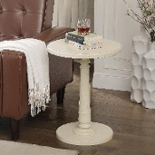 Haley Accent Table in Brushed White