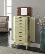 Avignon Jewelry Armoire in Antique White