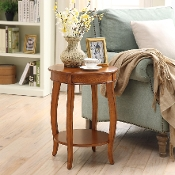 Yvonne Round Table in Burnt Chestnut