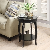 Yvonne Round Table in Antique Black