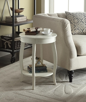 Yvonne Round Table in Antique White