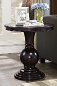 Rosemont Wooden Pedestal Table - Espresso