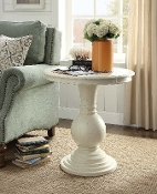 Rosemont Wooden Pedestal Table – Antique White