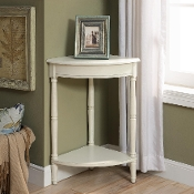 Corrine Corner Table in Antique White