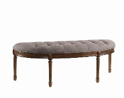 Montgomery Upholstered Half Moon Bench