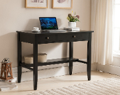 Sutton Writing Desk with Charging Station in Black