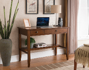Sutton Writing Desk with Charging Station in Espresso