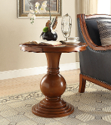 Rosemont Pedestal Table in Burnt Chestnut