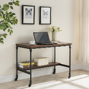 Covington Wooden and Metal Desk with Charging Station