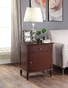 Morgan Nightstand with Charging Station in Espresso