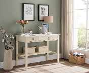 Sutton Writing Desk with Charging Station in Antique White