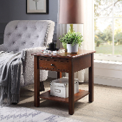 Sutton Side Table Extra Large with USB Charging Station in Espre